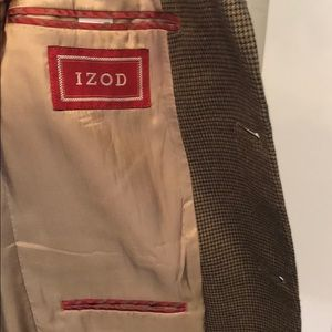 Izod Suits & Blazers - Izod Mini-Houndstooth Sportcoat 36S